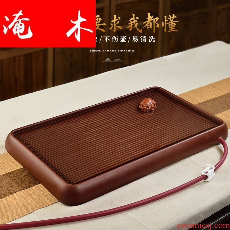 Flooded wood Germany makings high - grade tea tray bakelite tea tray bakelite round edge tea tea table kunfu tea are it
