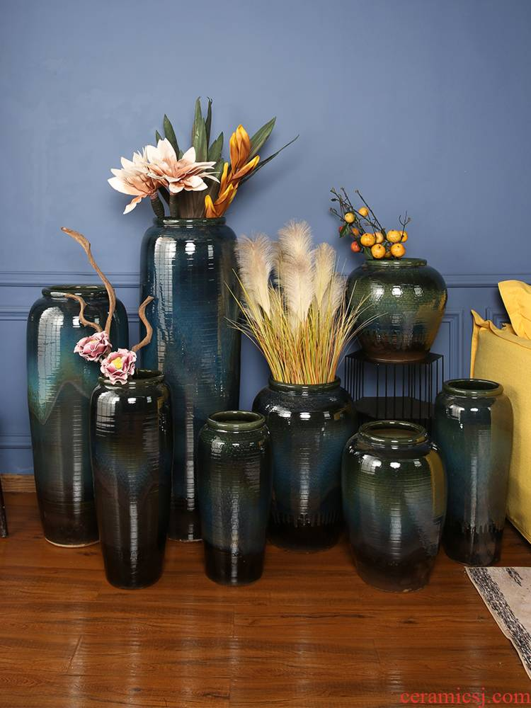 I and contracted jingdezhen ceramics of large vases, flower arranging ceramic cylinder example room hotel pottery decoration decoration