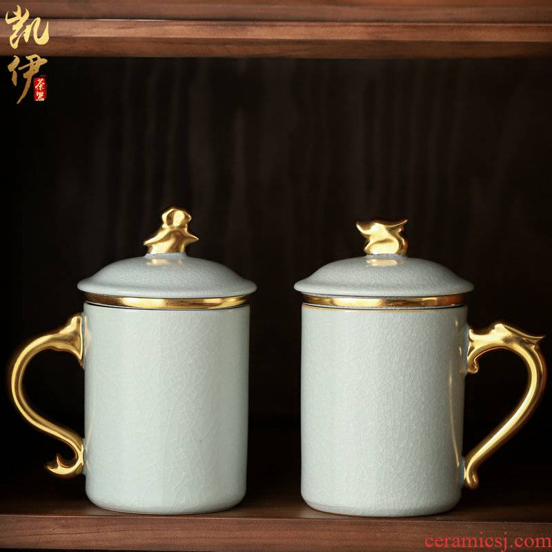 Your up paint office of auspicious dragon phoenix cup office mugs filtration slicing can raise cups tea cup