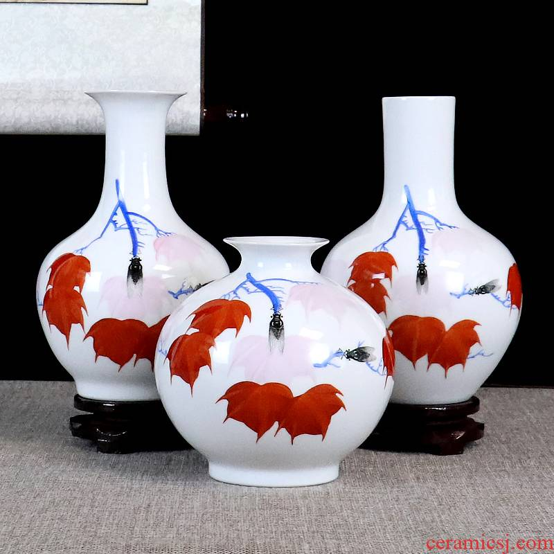 Jingdezhen hand - made ceramics vase furnishing articles sitting room flower arranging dried flowers, Chinese style manual home decoration arts and crafts