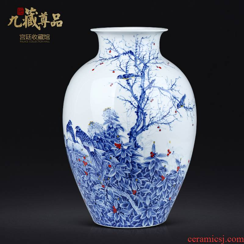 The Master of jingdezhen ceramics hand - made green flower bottles of Chinese style living room TV ark, flower arranging decorative furnishing articles
