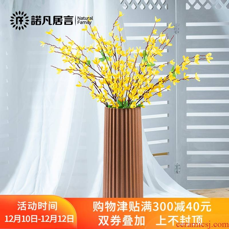 Ceramic vases, dried flowers, flower arrangement furnishing articles sitting room ins Nordic contracted and I creative thread European - style flower decoration
