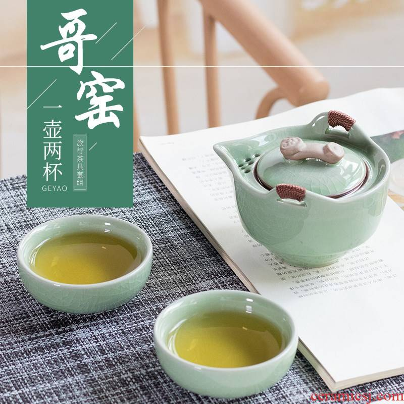 A pot of your up crack cup 2 cups portable bag ceramic tea cups little suit household is suing swim easily