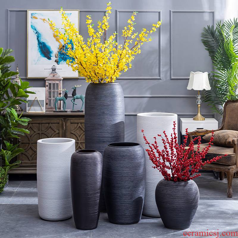 Modern contracted jingdezhen ceramic vases, flower arranging furnishing articles furnishing articles sitting room ground of new Chinese style restoring ancient ways vase