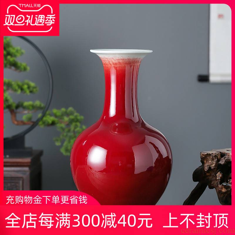 Jingdezhen ceramics ruby red glaze to admire the bottled act the role ofing is tasted furnishing articles home sitting room flower arranging hotel craft gift table