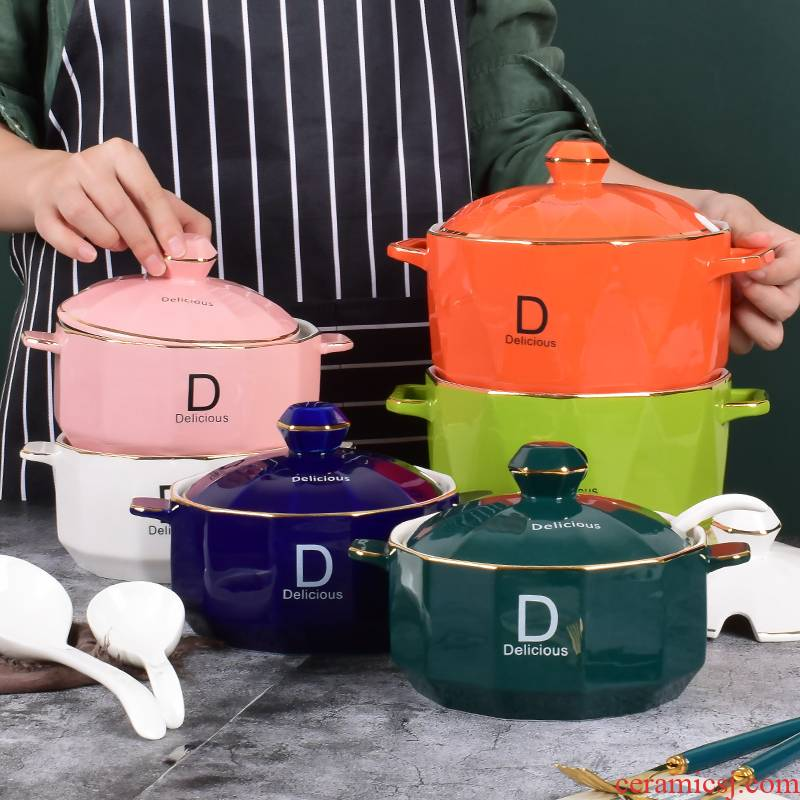 Large household with cover as the ceramic flavor northern chili oil seasoning sugar pot salt shaker individual kitchen