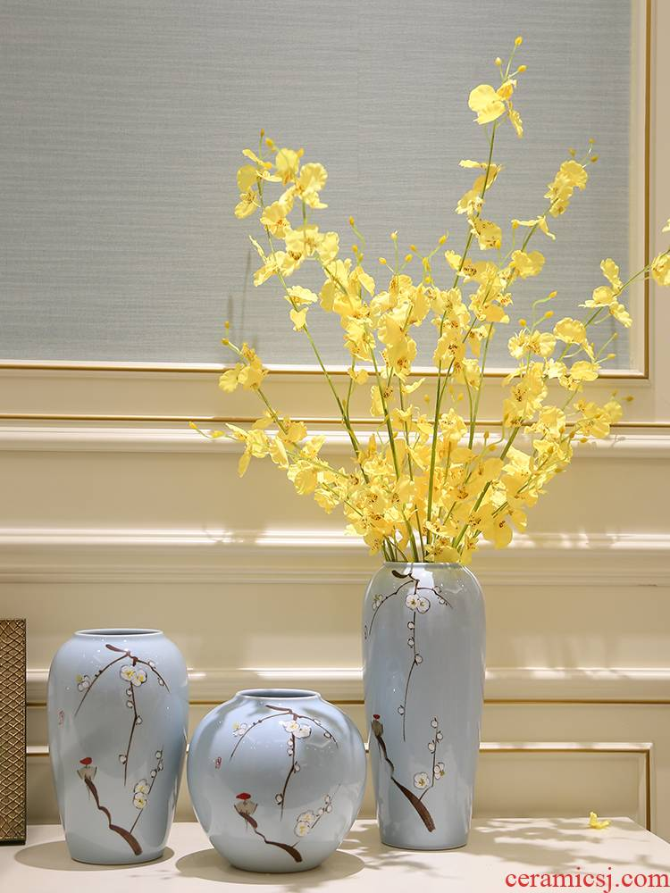 Mesa porch modern furnishing articles of the new Chinese style household ceramic vase hydroponic flower, flower arrangement sitting room simulation flower decoration