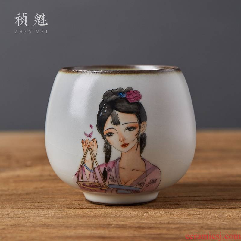 Your up hand - made beauty shot incarnate the ceramics jingdezhen kung fu tea cups sample tea cup master cup personal single CPU