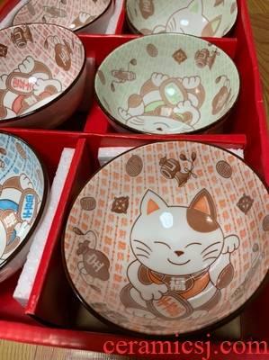 Japanese blue and white porcelain bowl chopsticks sets rice bowls return home sweethearts bowl chopsticks tableware box, lovely marriage