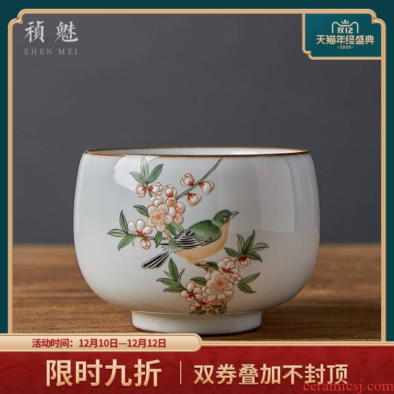 Shot incarnate the checking ceramic up jingdezhen kung fu tea cups and cup of individual single cup sample tea cup host