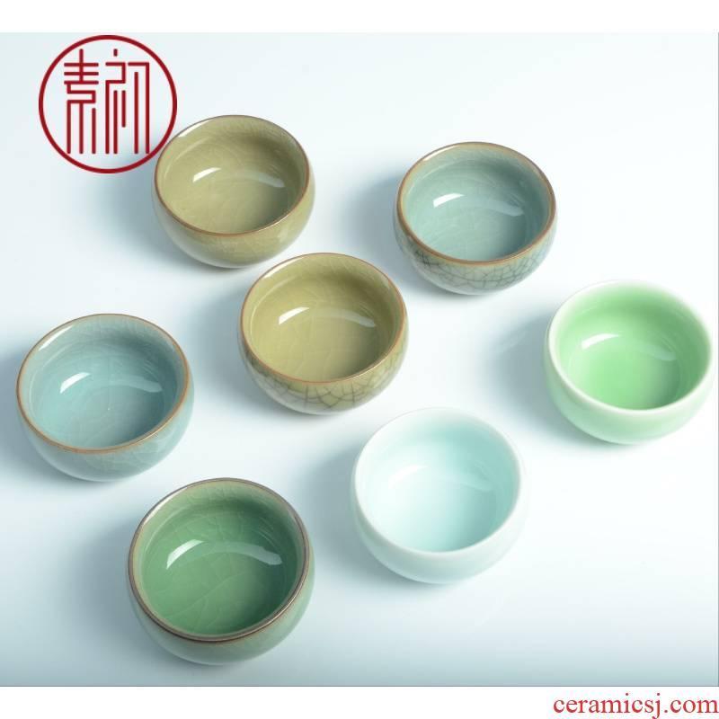 Kung fu tea ceramic sample tea cup Kung fu tea tea set single glass ceramic glass