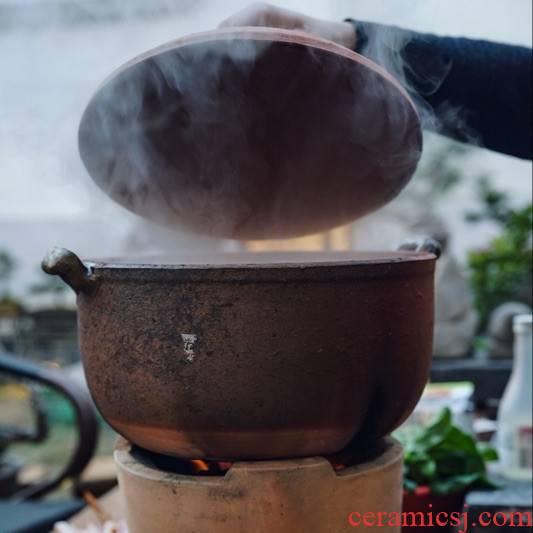 Soil TaoJianKang authentic traditional flame Soil pot porridge is special sand pot chaoshan sand Soil casserole pot soup pot