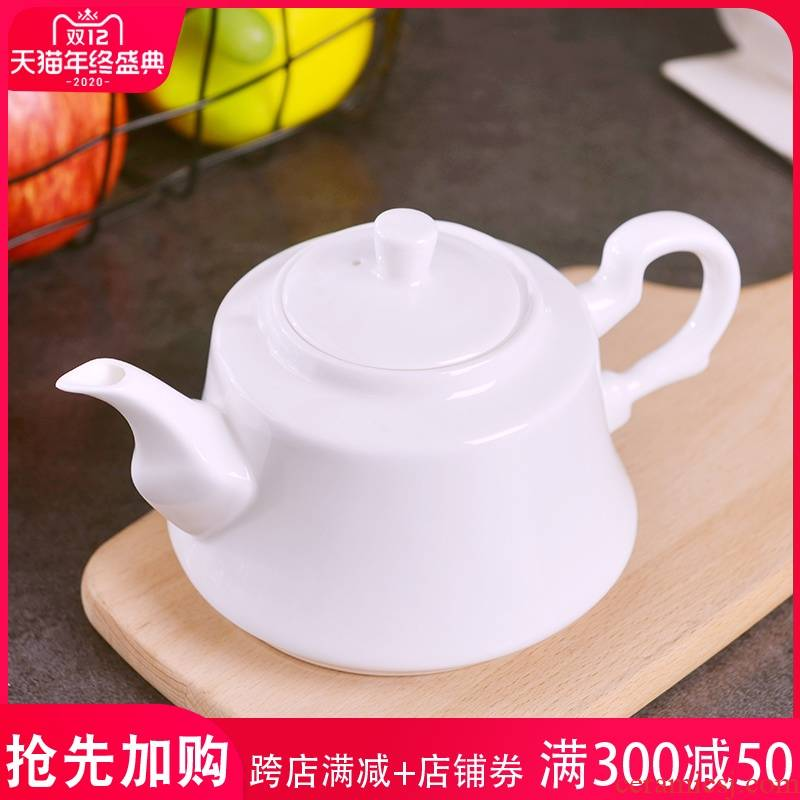 Jingdezhen under pure white glaze color manual creative teapot household ceramics kung fu tea set for little teapot for personal use