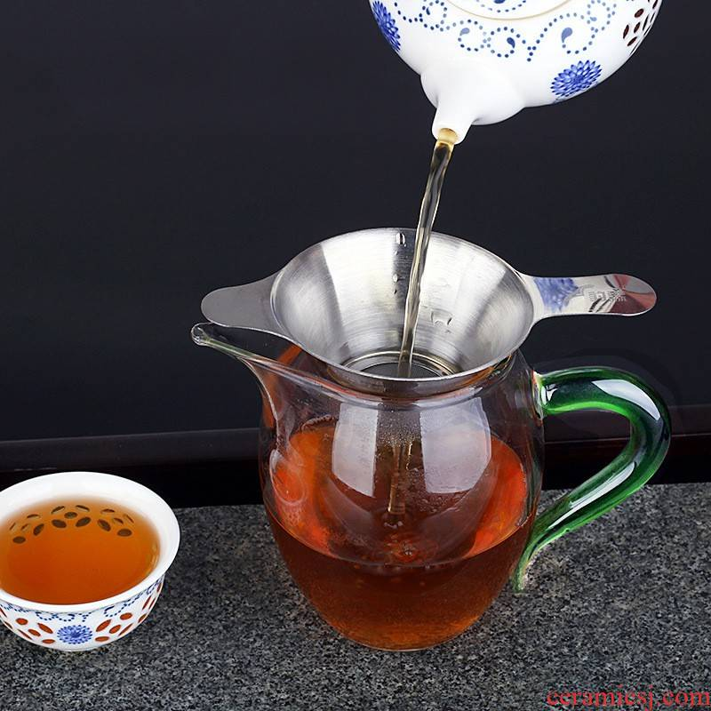 Fai (stainless steel) tea tea ice to crack the filter filter tea every exchanger with the ceramics filter accessories kung fu