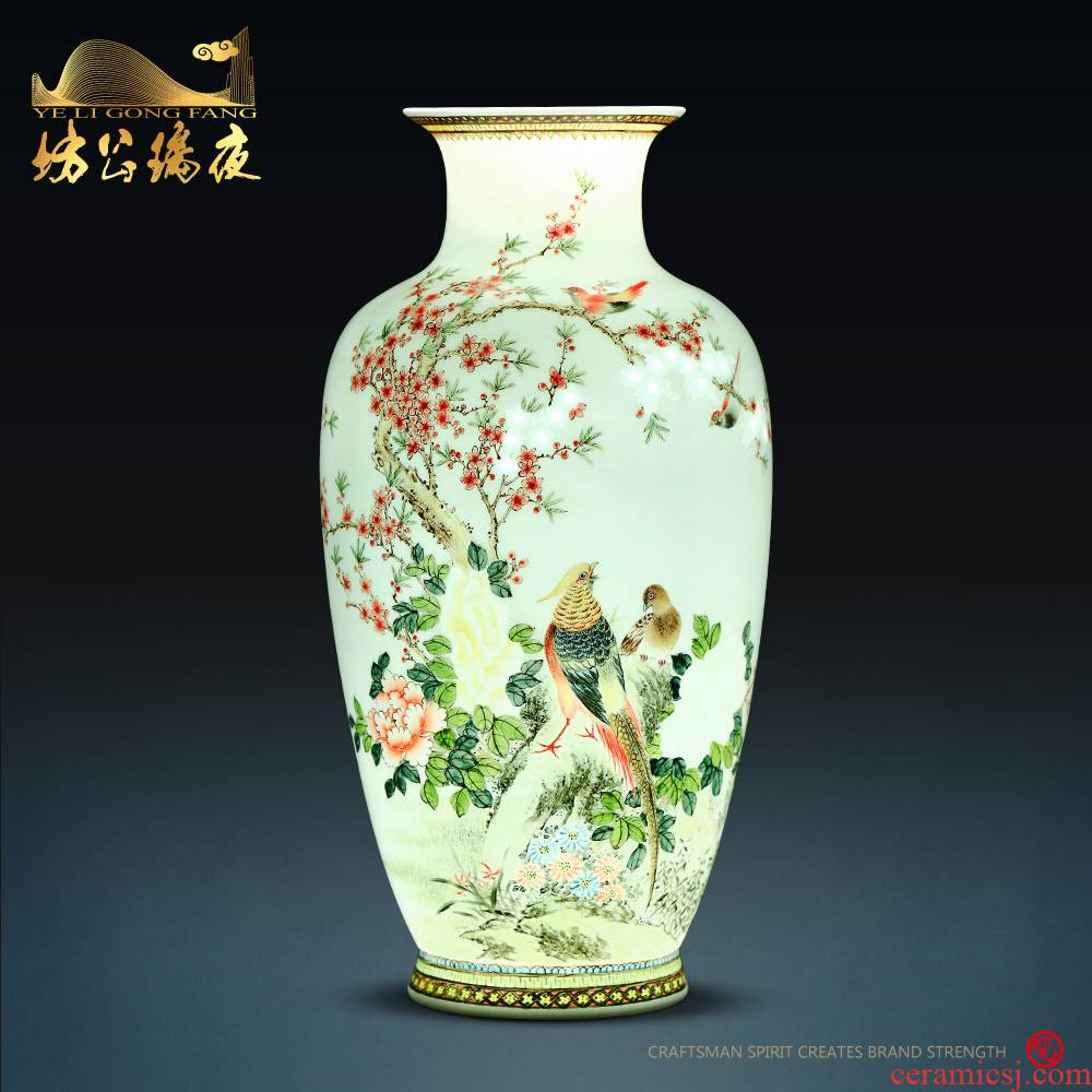 Jingdezhen ceramics hand - made vase colorful future Chinese style household act the role ofing is tasted knife clay TV ark, furnishing articles