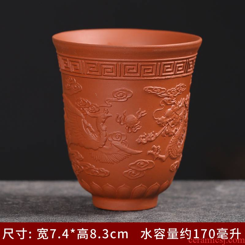 Jingdezhen ceramic its purple sand cup kung fu master cup single cup tea tea set personal gift cup of the big bowl