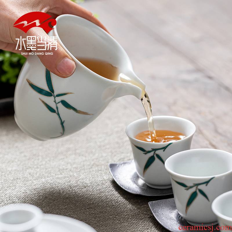 Your up kung fu tea set suit household contracted and I ceramic tea boutique gift boxes of high - grade office receive a visitor