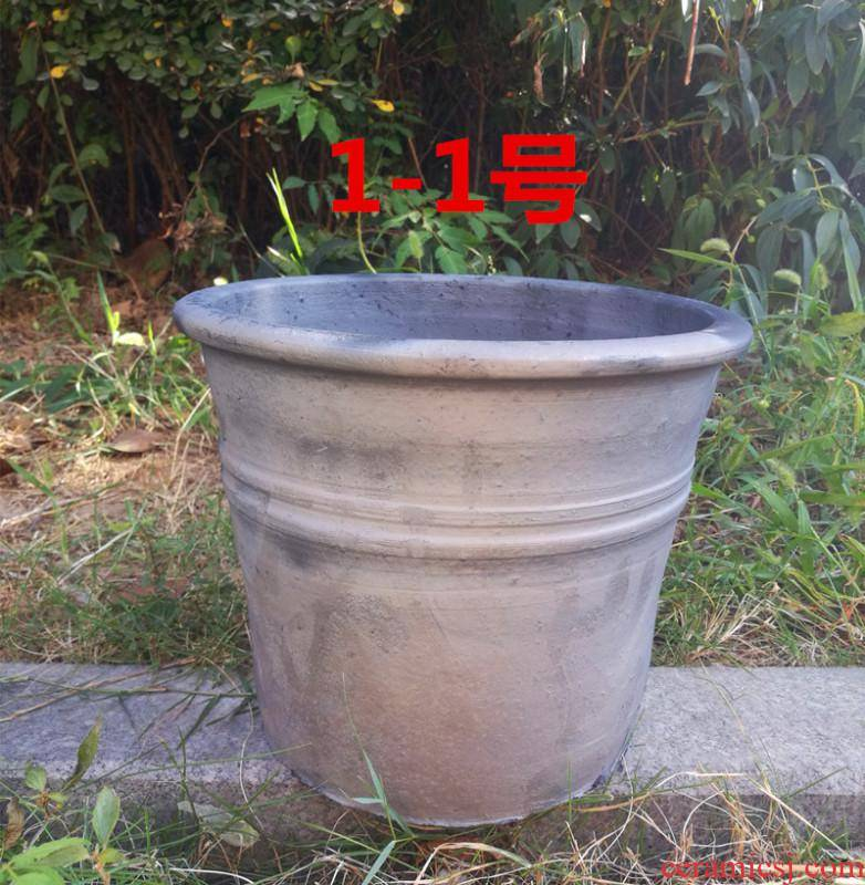 Classical large checking ceramic flower pot old mud made of baked clay pot coarse pottery clay, fleshy breathable clivia flower pot