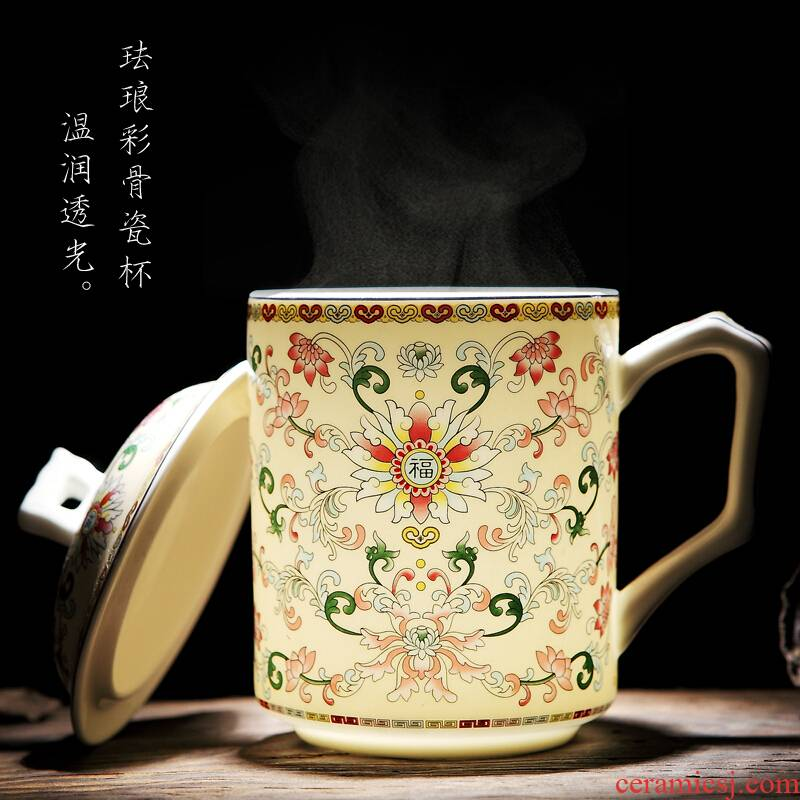 Jingdezhen ceramic cup and ipads China large cups with cover household hotel office cup tea cup gift mugs