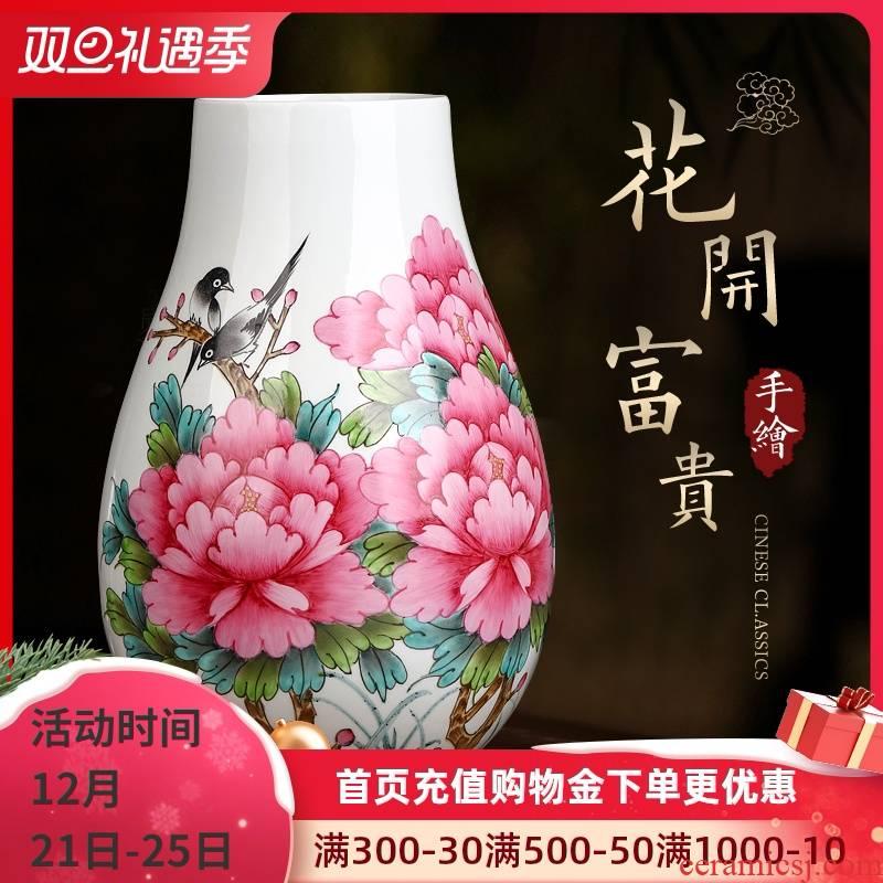 The Master of jingdezhen hand - made powder enamel porcelain vase furnishing articles big expressions using tube of the sitting room adornment porcelain bottle arranging flowers