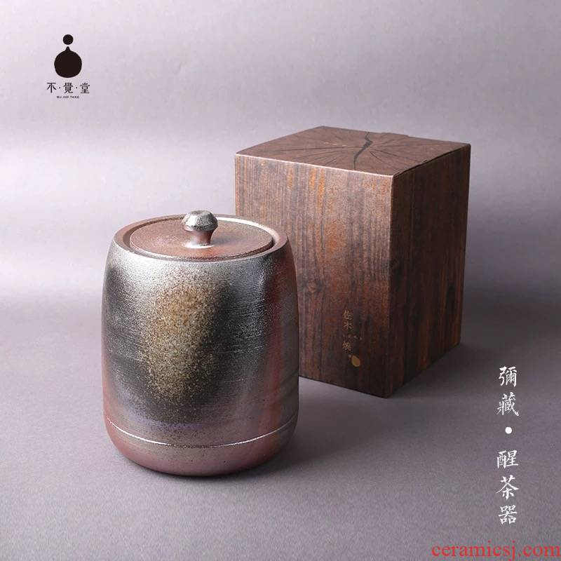 Unknowingly hall with wood'm burning firewood to wake tea caddy fixings seal device coarse pottery firewood caddy fixings ZSH