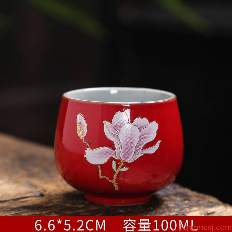 Sterling silver cup edible silver cups ceramic sample tea cup kung fu tea cup coppering. As plated silver cup master CPU