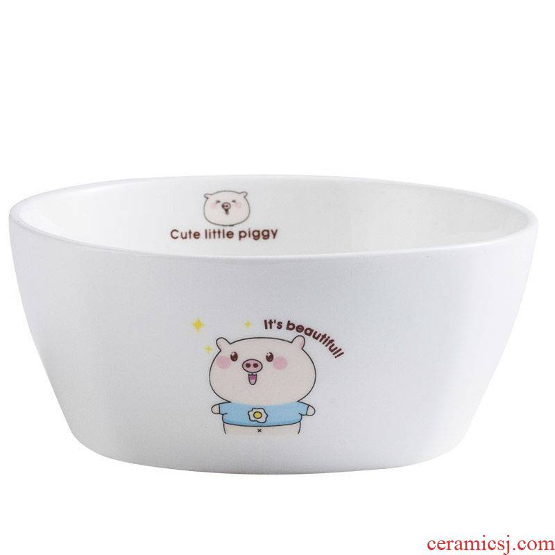 The kitchen mercifully rainbow such to use Japanese rainbow such as bowl 6 inches salad bowl spoon, chopsticks ceramic tableware tureen large bowl of household