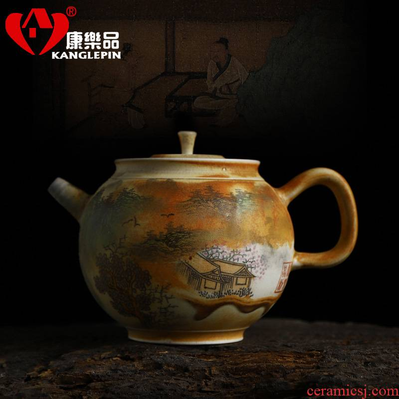 Recreational product water to burn the teapot hand - made traditional famille rose porcelain pure manual capacity 200 cc can keep open