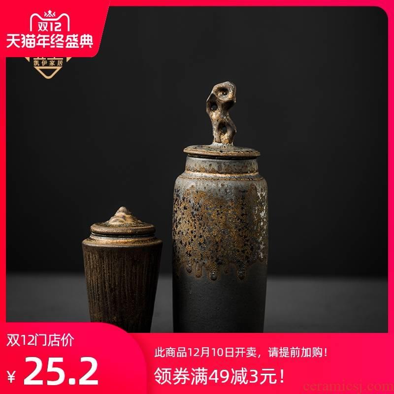 Japanese concept of coarse pottery checking mountain tea pot storage tank ceramic tea POTS awake pu 'er red POTS tea accessories