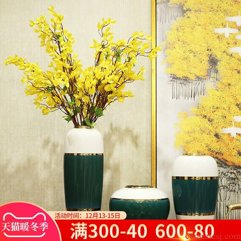 Jingdezhen modern ceramic vase furnishing articles new Chinese flower arranging dried flowers sitting room porch TV ark, creative decorations