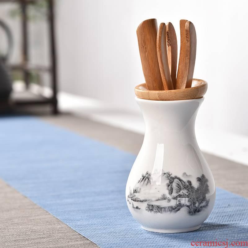 Hui shi celadon tea sets accessories tea six gentleman 's kung fu tea accessories make tea tray accessories furnishing articles