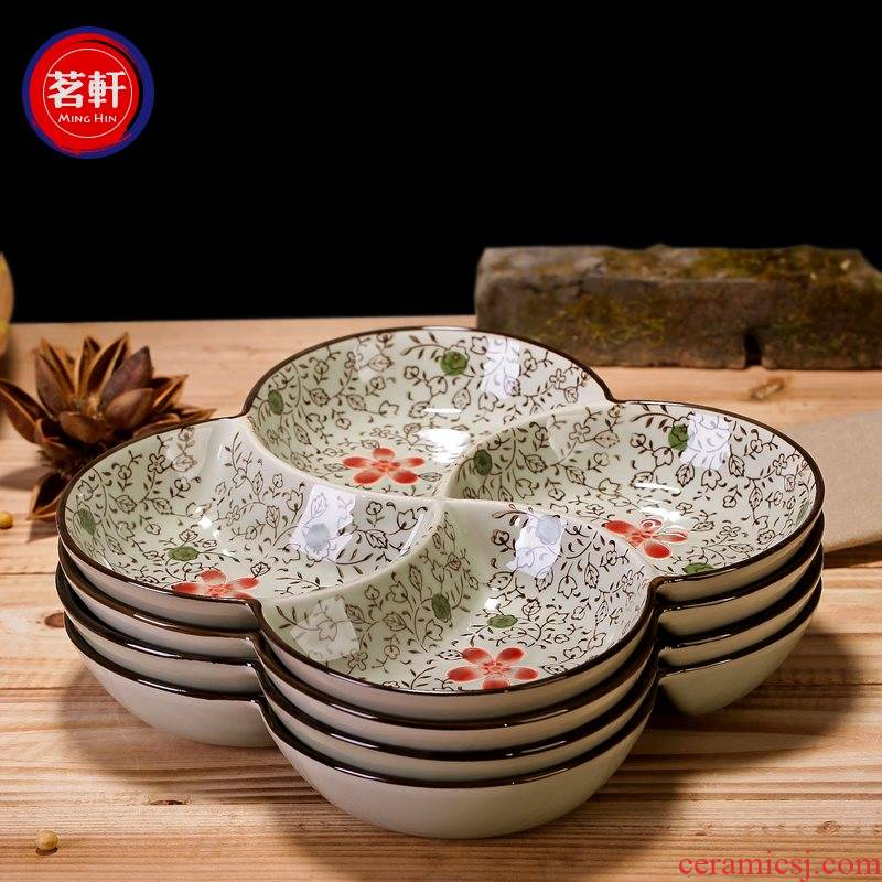 Side dish dish, kitchen dishes frame platter ceramics, household fast - food restaurant hot pot dishes