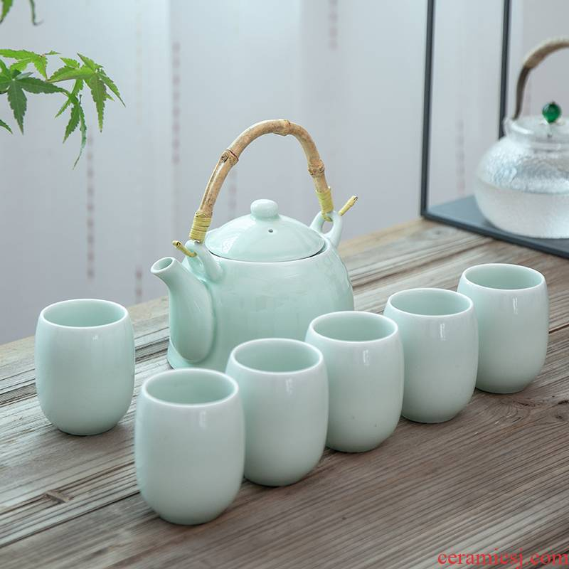 Celadon girder pot of tea large capacity 1000 ml teapot with screen pack cool water high temperature resistant, the whole household