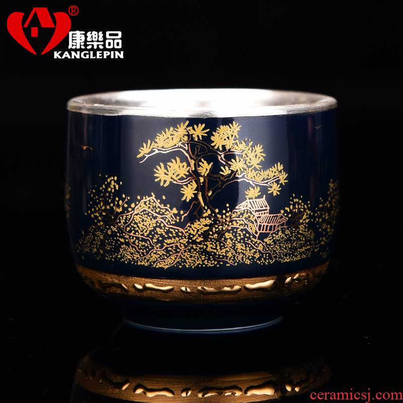 Recreation is tasted fine silver S999 manual sample tea cup silver cup kung fu tea set guest jingdezhen tea cup silver cup
