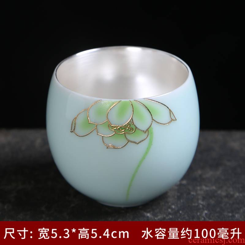 Household utensils sets jingdezhen celadon kung fu tea set ceramic cups of a complete set of contracted GaiWanCha dish the teapot