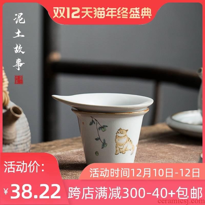Open your up porcelain pieces can raise hand tea ware kung fu tea set ceramic large tea individual justice, sea glass