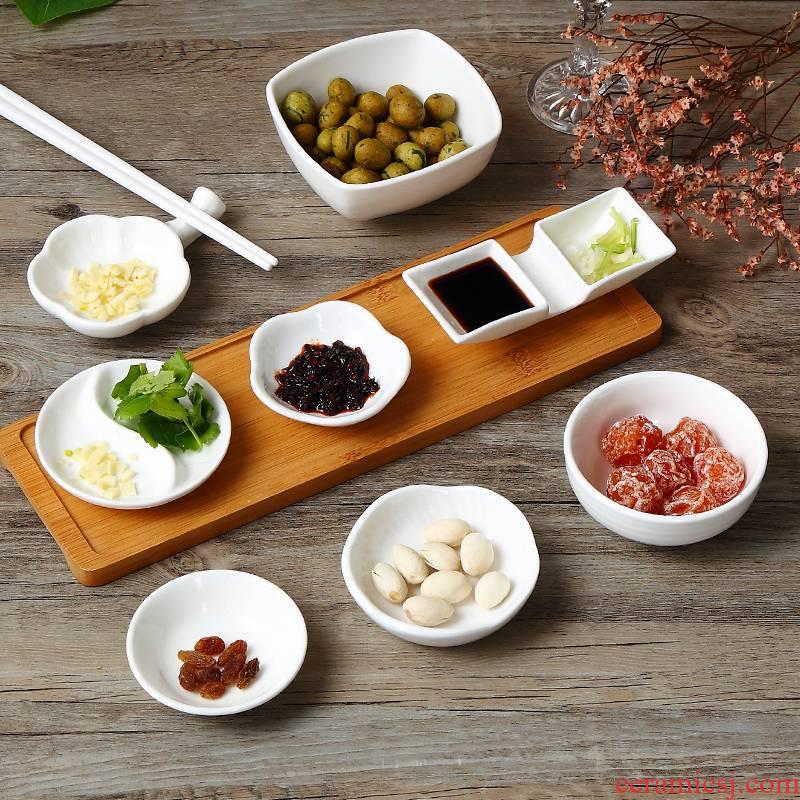 Hotel tableware ceramic creative restaurant sauce dish dish of Japanese household vinegar dish ink flavour dish chafing dish seasoning dishes