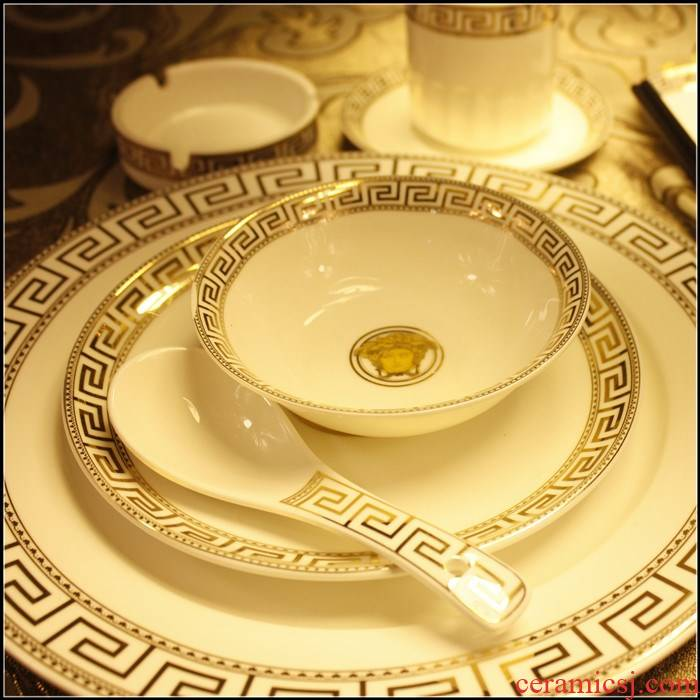 The hotel kitchen ceramic plate dish bowl star hotel key-2 luxury hotel dining boxes ipads porcelain tableware table suits for