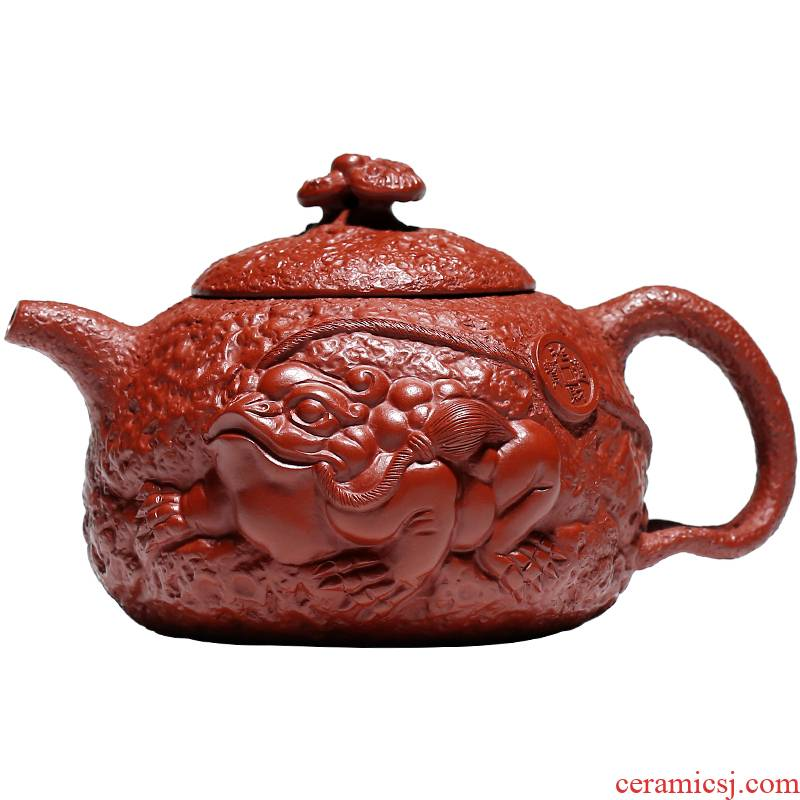Shadow at present yixing are it by Xu Pingchun all hand dahongpao teapot suit spittor for spring