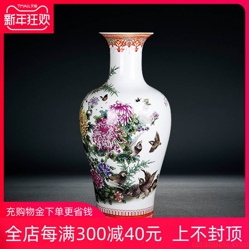 Jingdezhen ceramics of large vases, sitting room of Chinese style household furnishing articles live TV ark, porch decoration