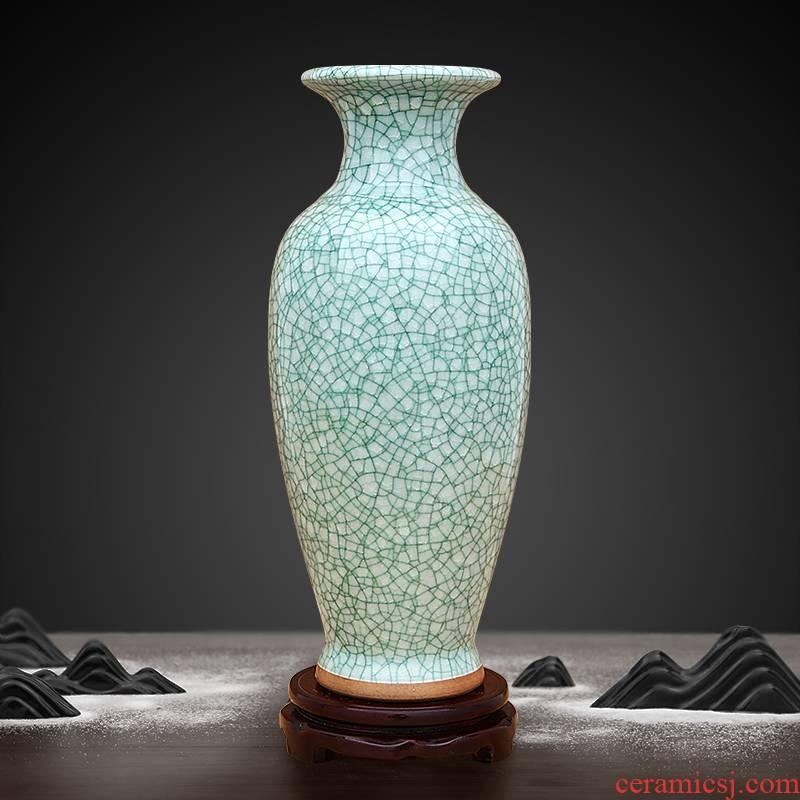 Jingdezhen ceramic vase crack porcelain glaze furnishing articles sitting room ground adornment flower arrangement craft three color optional