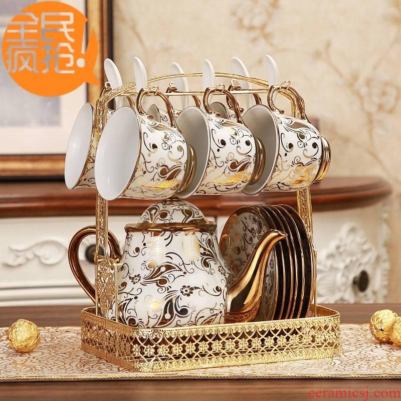 Hui shi ou 14 head suit 】 【 British ceramic tea sets a coffee cup tea coffee cup