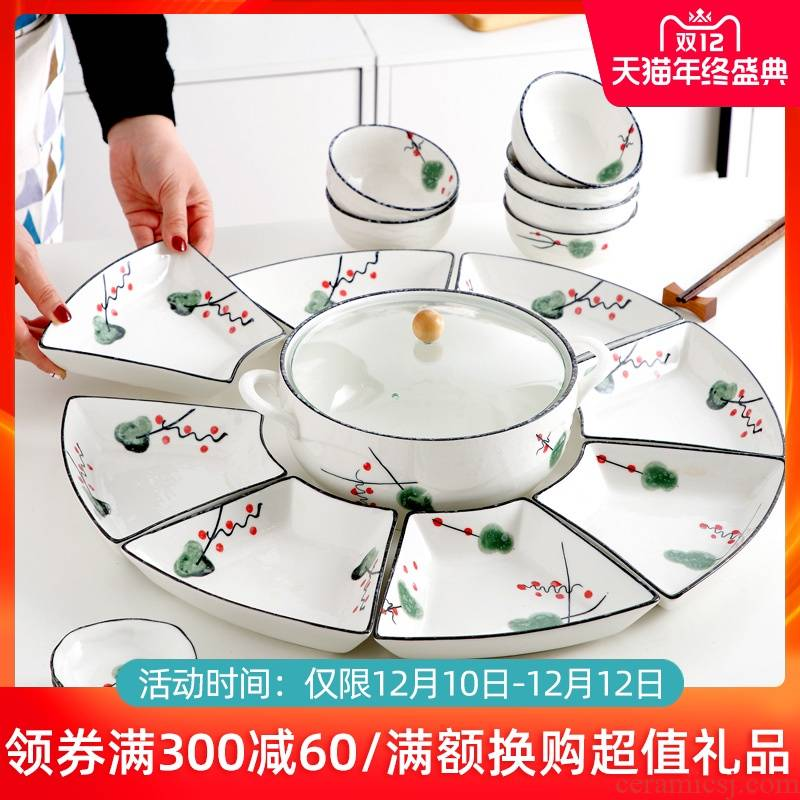 Japanese ceramic household dish dish dish creative platter frame web celebrity particulary if plate tray is eating utensils
