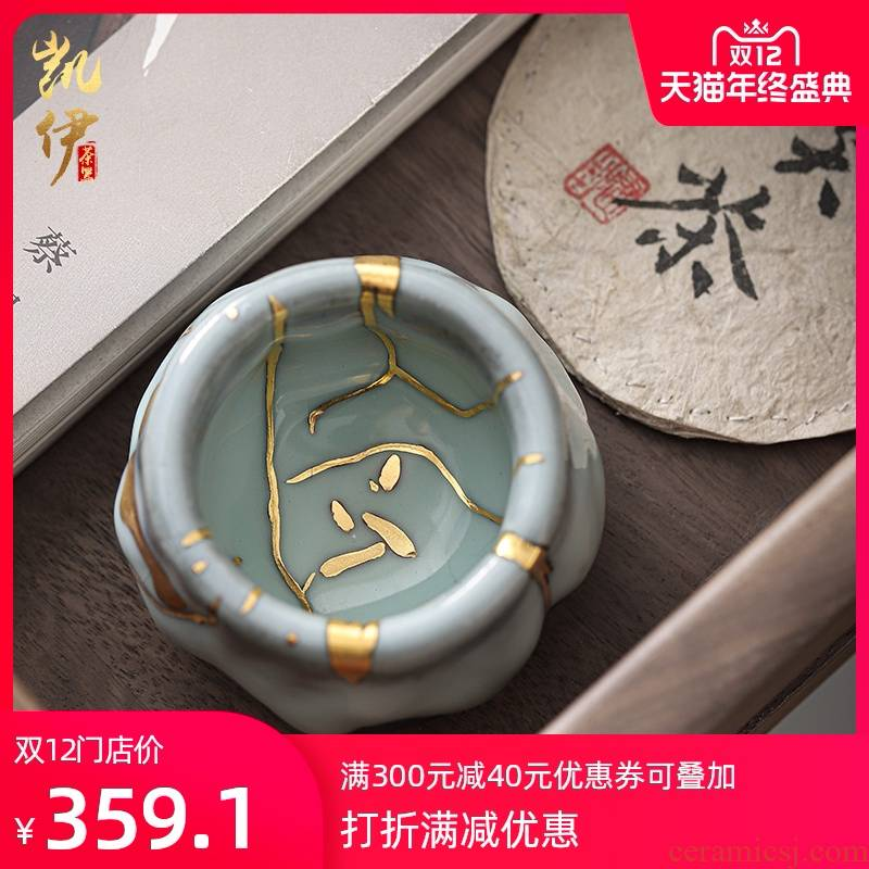 Chi wild jinzhan ash sample tea cup ceramic tire iron ash kung fu tea cups Taiwan cup tea master cup fuels the cup by hand