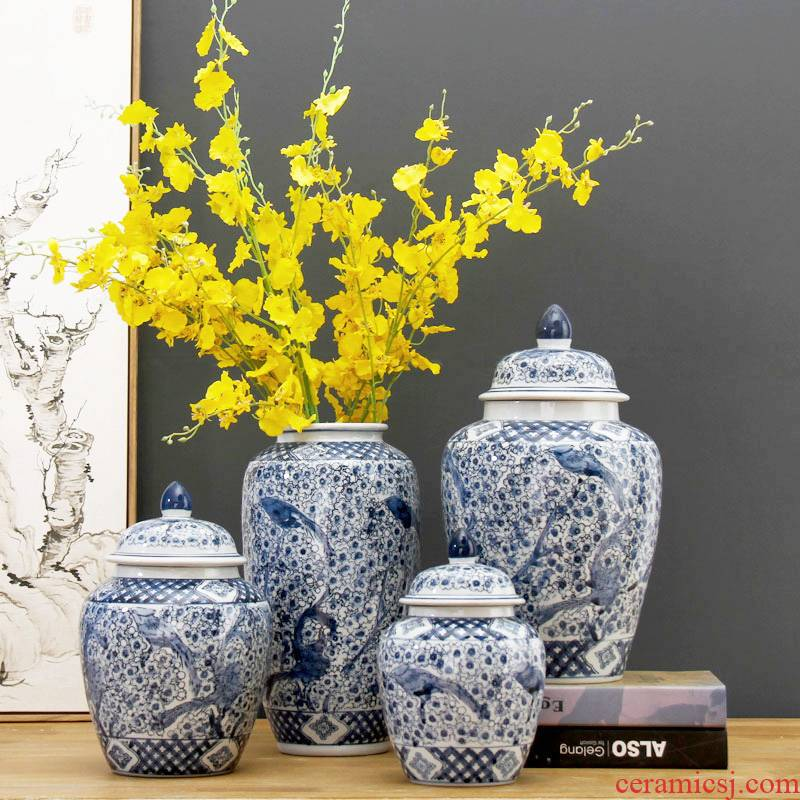 Beaming new Chinese blue and white porcelain is jingdezhen ceramic vase the magpies name plum zen sitting room place flower arrangement