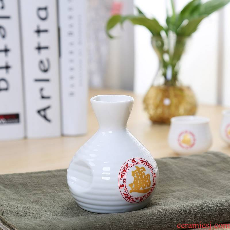 Qiao mu Japanese ceramics hip points wine home wine cup of liquor cup wine pot rice wine wine suits for