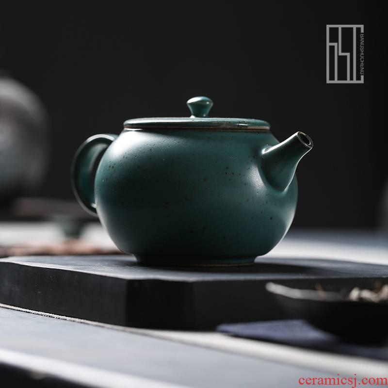 Shadow at jingdezhen Japanese kung fu tea set manually suet jade ceramic teapot pu 'er tea pot small BSC