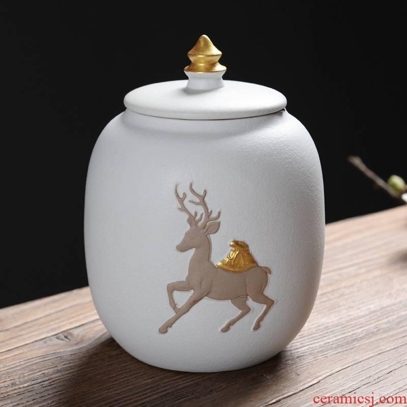 Ya xin elder brother up caddy fixings ceramic storage tanks piggy bank seal pot kung fu tea tea accessories