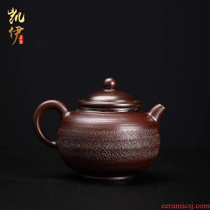 The Teacher manual firewood coarse pottery teapot household Japanese single pot, pot of kung fu tea ware ceramic tea set