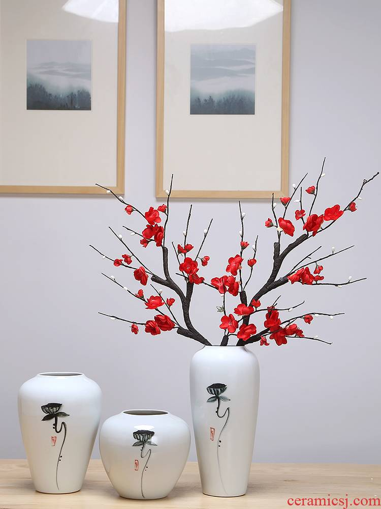 Jingdezhen ceramic vases, sitting room of I and contracted style furnishing articles of dried flower arranging flowers wine porch home decoration